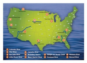 American Rivers-2013 Endangered Rivers map