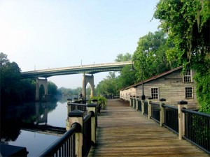 The Waccamaw River Walk in the heart of Conway.
