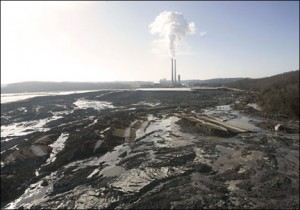 The 2008 Kingston coal ash disaster (pictured here) is just one example of the ways that coal ash threatens public health.  Photo Credit: Associated Press